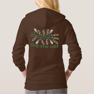 Two Sided Clog Over Vine Cute Clogging Hoodie