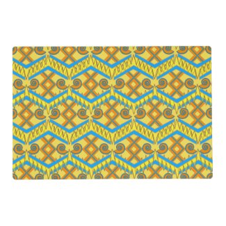 Two-Sided Colors on Geometric Placemats