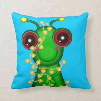 Two Sided Critters with Charms Throw Pillow