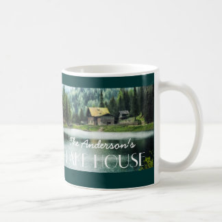 Two Sided Custom Family Name Photo Lake House Mug