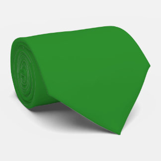 Two Sided Forest Green Solid Color Tie