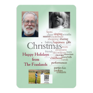 Two-sided Holiday Photo Template Greeting Card