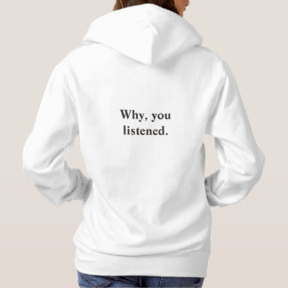 Two sided hoodie