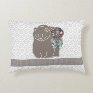 Two-Sided Native American Inspired Bear Decorative Pillow