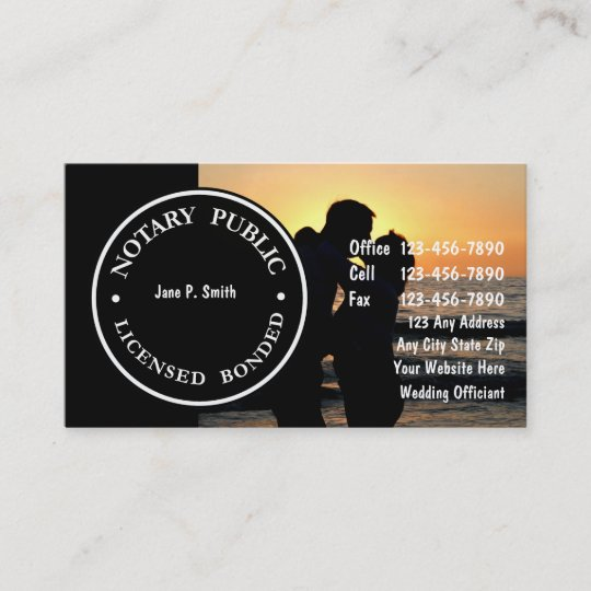 two sided notary business cards - Notary Business Cards