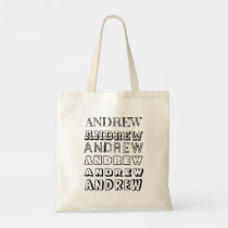 Two Sided Personalized Name Color Your Own DIY Tote Bag