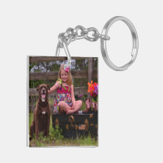 Two-sided Photo Key Chain at Zazzle