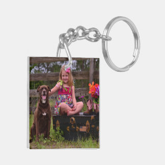 Two-sided Photo Key Chain