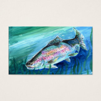 Two-Sided Rainbow Trout Business Card