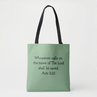 Two-sided Scripture Tote Bag