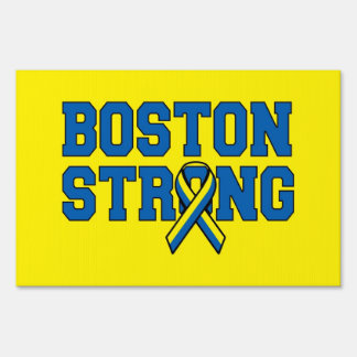 Two sided signage Boston Strong Ribbon Signs