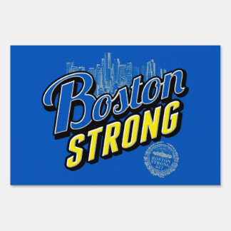 Two sided signage Boston Strong Lawn Sign