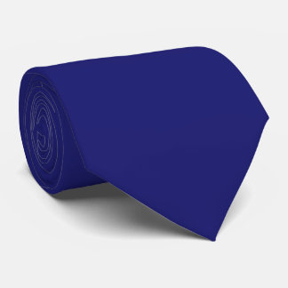Two Sided Solid Color Midnight Blue Tie