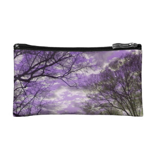 Two Sided Sunset in Purple and Pink Makeup Bag