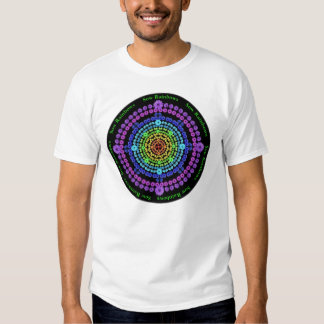 Two Sided T Shirt with Rainbow and Nightblooms