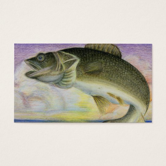 Two-Sided Walleye Business Card