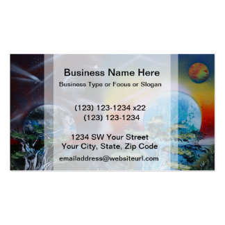 two sides planet scenes spacepainting business card