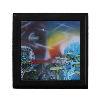 two sides planet scenes spacepainting trinket boxes