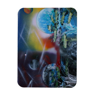two sides planet scenes spacepainting flexible magnets