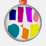 Two Sides Round Metal Christmas Ornament