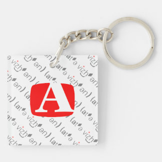 Two Sides to Every Key... Double-Sided Square Acrylic Keychain