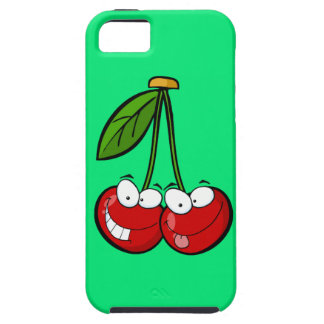 Two silly cherries iPhone SE/5/5s case