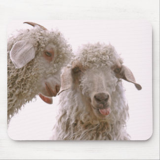 Two Silly Goats Mouse Pad