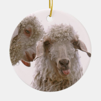 Two Silly Goats Ornament