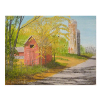 Two Silos - Sussex County NJ Postcard