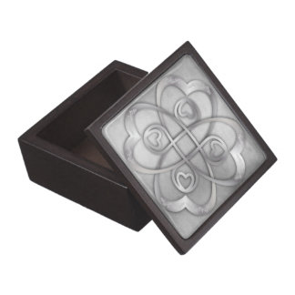 Two Silver Hearts Double Infinity - Gift Box