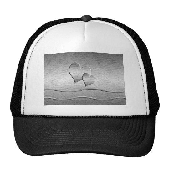 Two Silver Hearts Trucker Hat