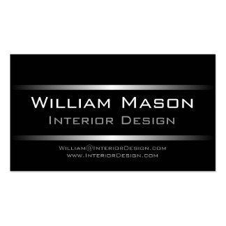 Two Silver Stripes Professional Business Card