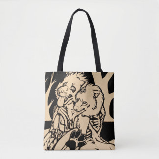 """Two Single Hearts on Fire"" Tote Bag"