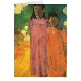 Two Sisters by Gauguin, Vintage Impressionism Art Greeting Cards