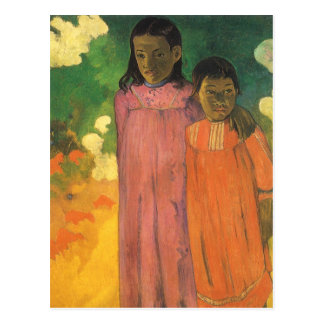 Two Sisters by Gauguin, Vintage Impressionism Art Postcard