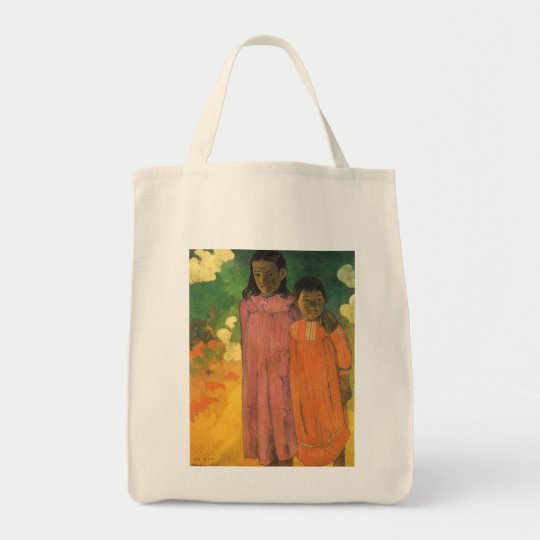 Two Sisters by Paul Gauguin, Vintage Impressionism Tote Bag