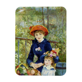 Two Sisters By Renoir, Vintage Impressionism Art Rectangular Photo Magnet