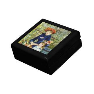 Two Sisters By Renoir, Vintage Impressionism Art Trinket Box