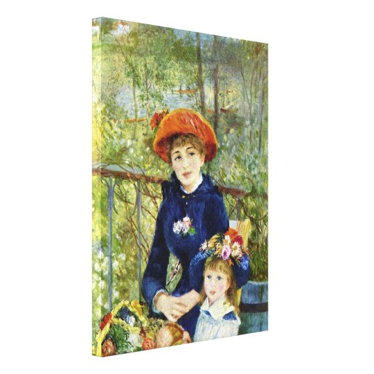 Two Sisters (On the Terrace) By Pierre Renoir Canvas Print