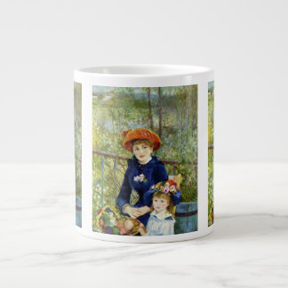 Two Sisters (On the Terrace) By Pierre Renoir Large Coffee Mug