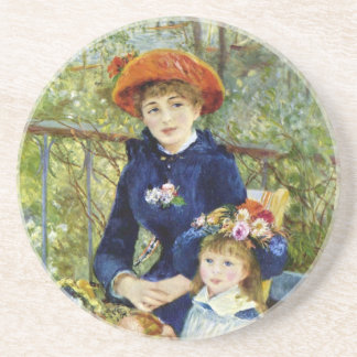Two Sisters (On the Terrace) By Pierre Renoir Sandstone Coaster