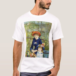 Two Sisters (On the Terrace) By Pierre Renoir T-Shirt