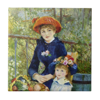 Two Sisters (On the Terrace) By Pierre Renoir Tile