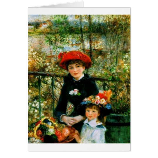 Two Sisters On the Terrace by Renoir Card