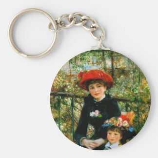 Two Sisters On the Terrace by Renoir Keychain