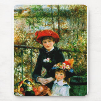 Two Sisters On the Terrace by Renoir Mouse Pad