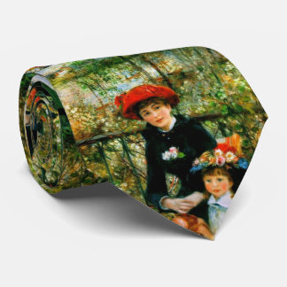 Two Sisters On the Terrace by Renoir Neck Tie