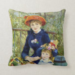 Two Sisters (On the Terrace) By Renoir Throw Pillows
