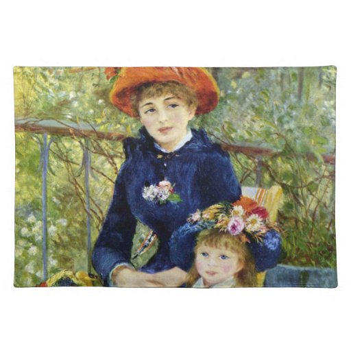 Two Sisters (On the Terrace) By Renoir Place Mats
