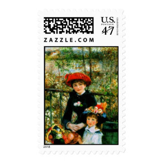 Two Sisters on the Terrace by Renoir Postage
